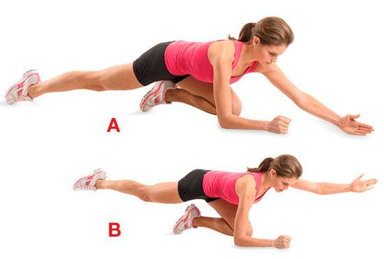 Упражнение для разогрева мышц пресса