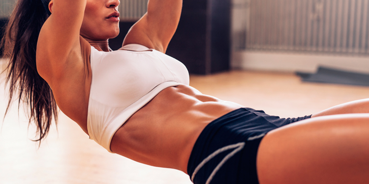 Домашние фитнес пресс девушке