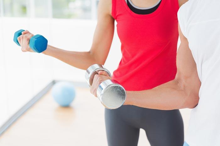 Тренировка с весом для набора массы