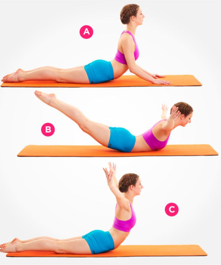 Упражнение для укрепления спины - лебедь