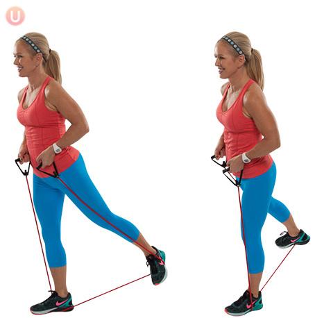Упражнение с эспандером