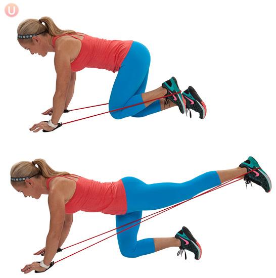Упражнение с эспандером для ягодиц